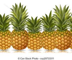 pineapples in a row