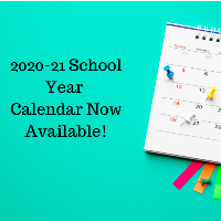 2020-2021 District Calendar Available